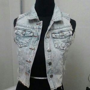 Thread & Supply Jackets & Coats - Awesome Acid Wash Denim Vest
